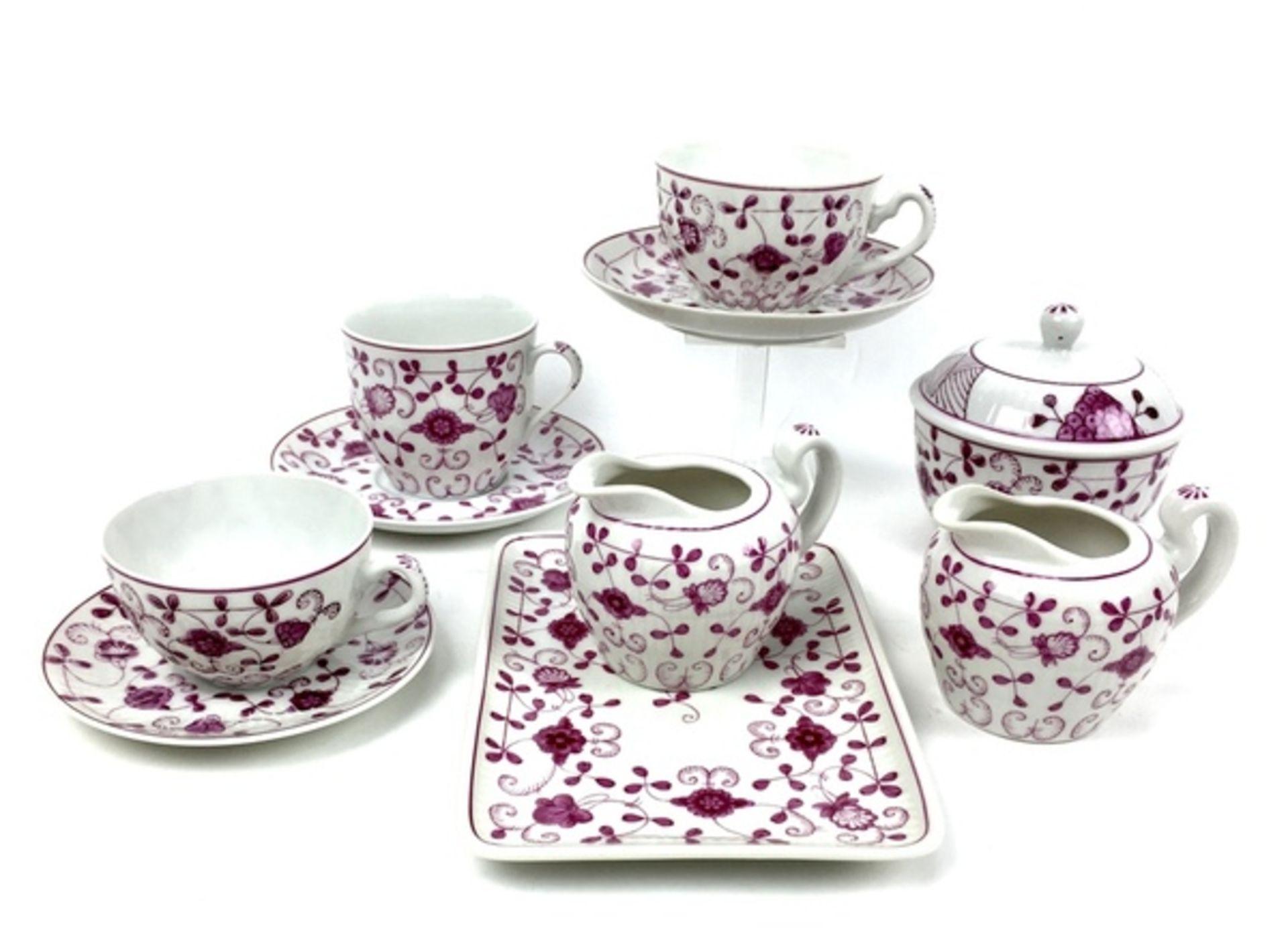 (Curiosa) Koffie-en thee servies August WarneckeKoffie-en theeservies waaronder serveerborden, - Image 5 of 8