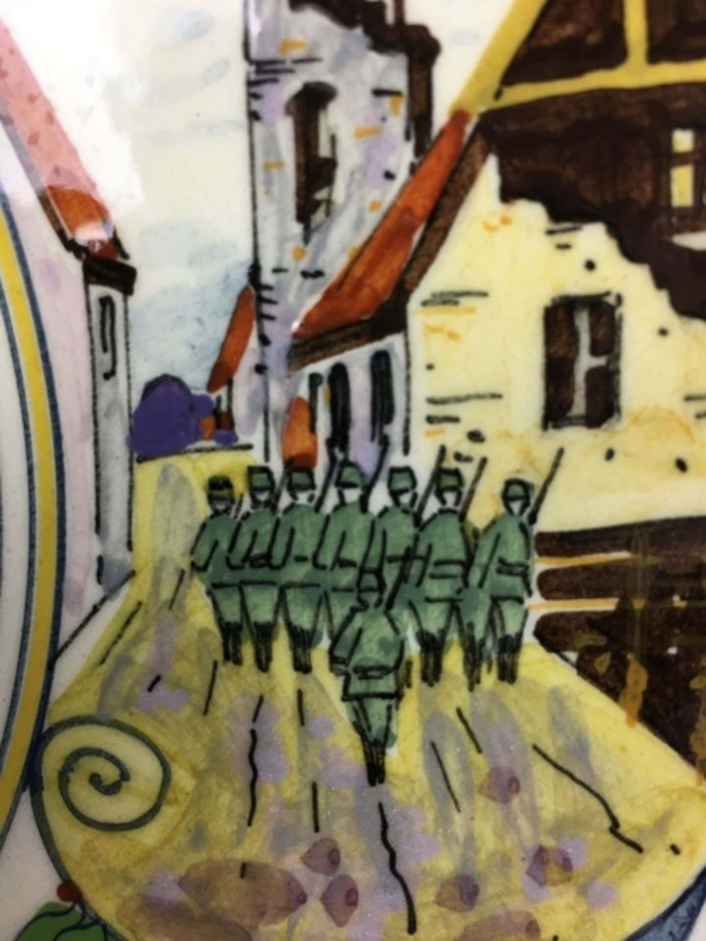 """(Toegpaste kunst) Ivora wandborden """"Vrede""""Twee verschillende Ivora polychroom beschilderde wand - Image 5 of 9"""