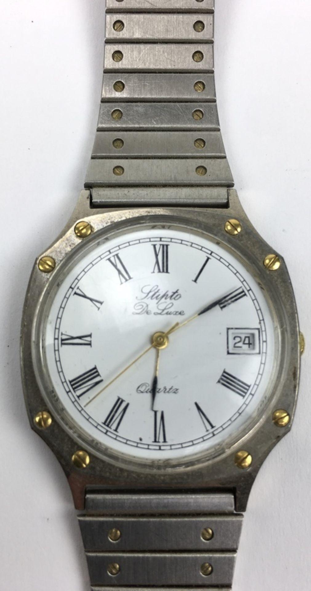 (Sieraden) HorlogesDrie verschillende merken horloges. Conditie: Gebruikssporen, niet getest. A - Image 2 of 7