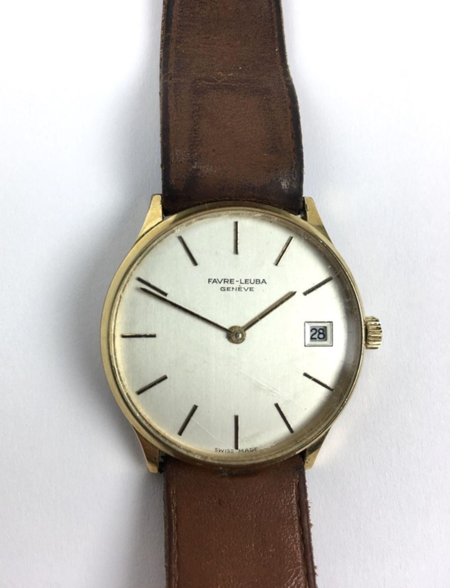 (Sieraden) Horloge Favre-Leuba GeneveVintage heren horloge Favre-Leuba Geneve. Conditie: In wer - Image 2 of 3