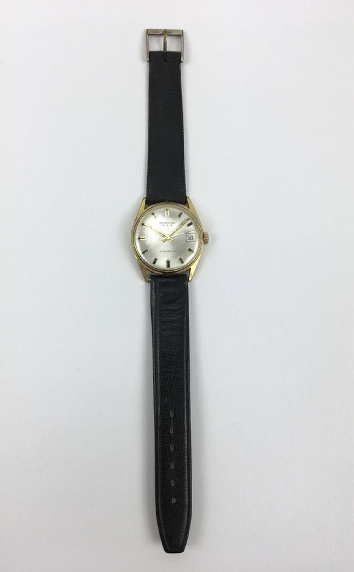 (Sieraden) Horloge PontiacVintage heren horloge Pontiac Simpatico. Conditie: In werkende staat.