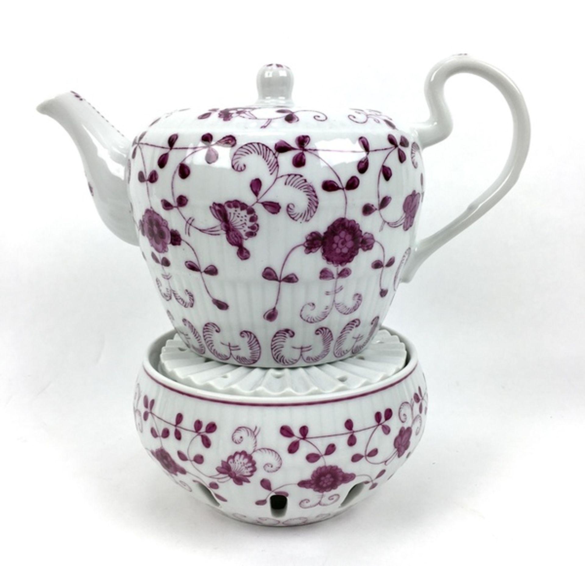 (Curiosa) Koffie-en thee servies August WarneckeKoffie-en theeservies waaronder serveerborden, - Image 3 of 8
