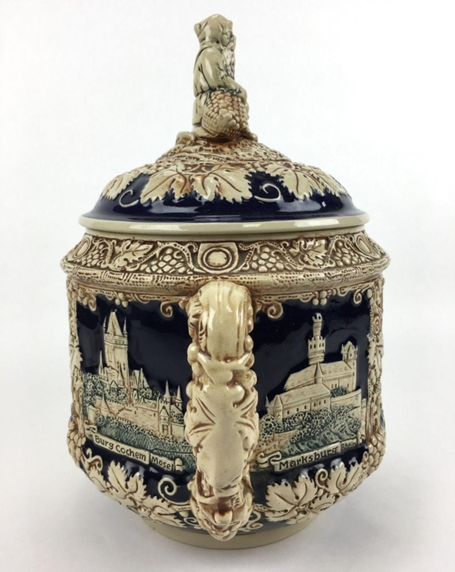 (Curiosa) Aardewerk bowl pot, DuitslandAardewerk bowl pot met druiventrossen decoratie. Duitsla - Bild 7 aus 8