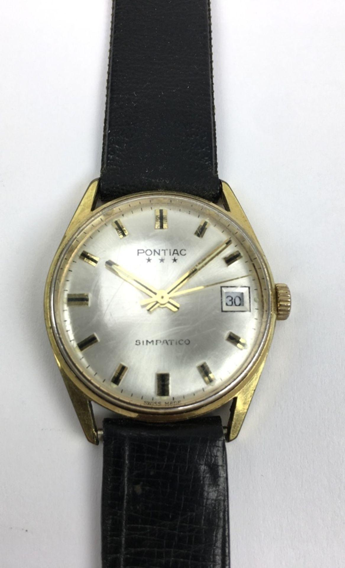 (Sieraden) Horloge PontiacVintage heren horloge Pontiac Simpatico. Conditie: In werkende staat. - Image 2 of 3