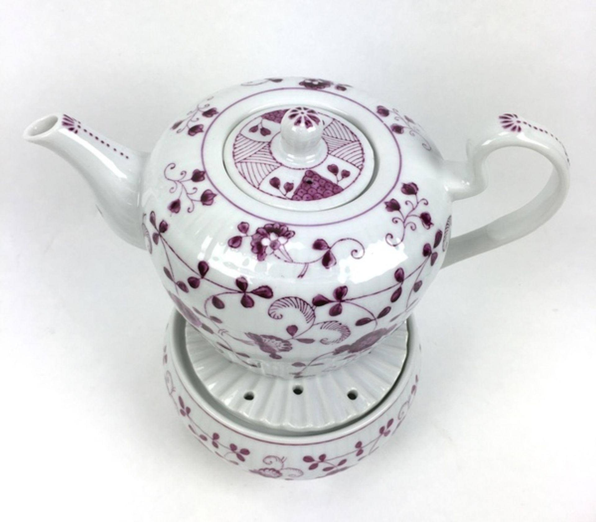 (Curiosa) Koffie-en thee servies August WarneckeKoffie-en theeservies waaronder serveerborden, - Image 4 of 8