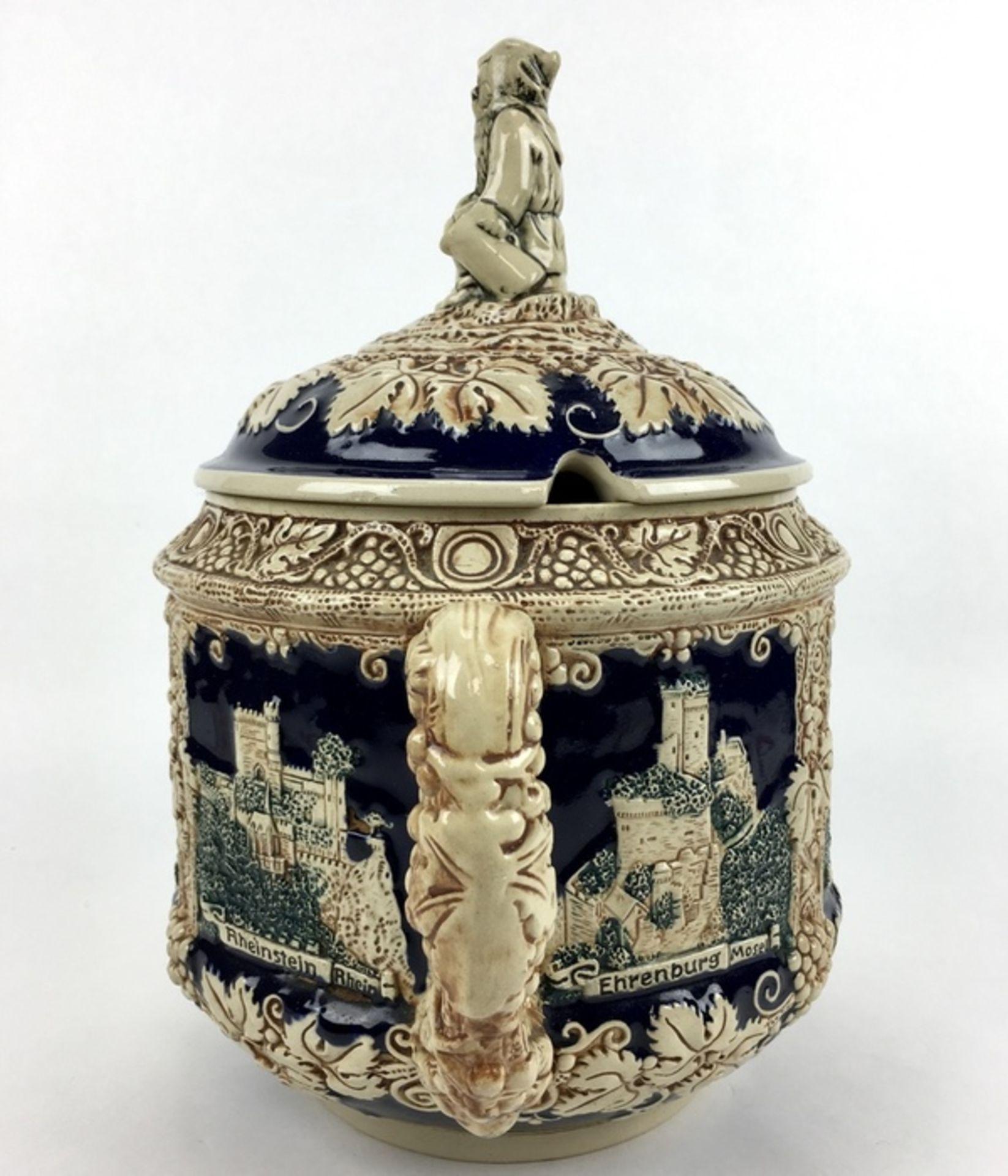 (Curiosa) Aardewerk bowl pot, DuitslandAardewerk bowl pot met druiventrossen decoratie. Duitsla - Bild 5 aus 8
