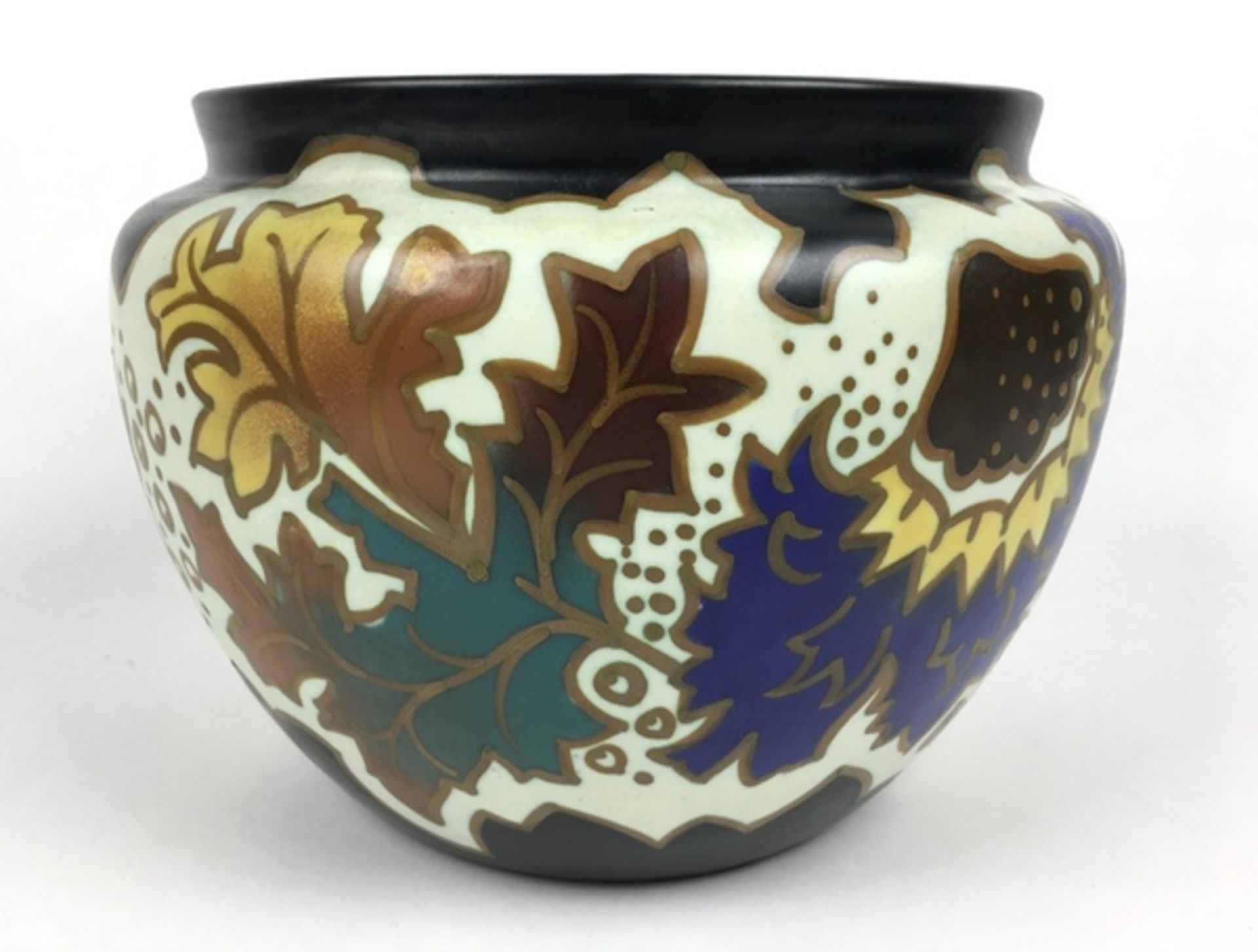 (Toegepaste Kunst) Plateel bloempot, ArnhemPlateel bloempot, Arnhem Holland B.V. Midden 20e eeu