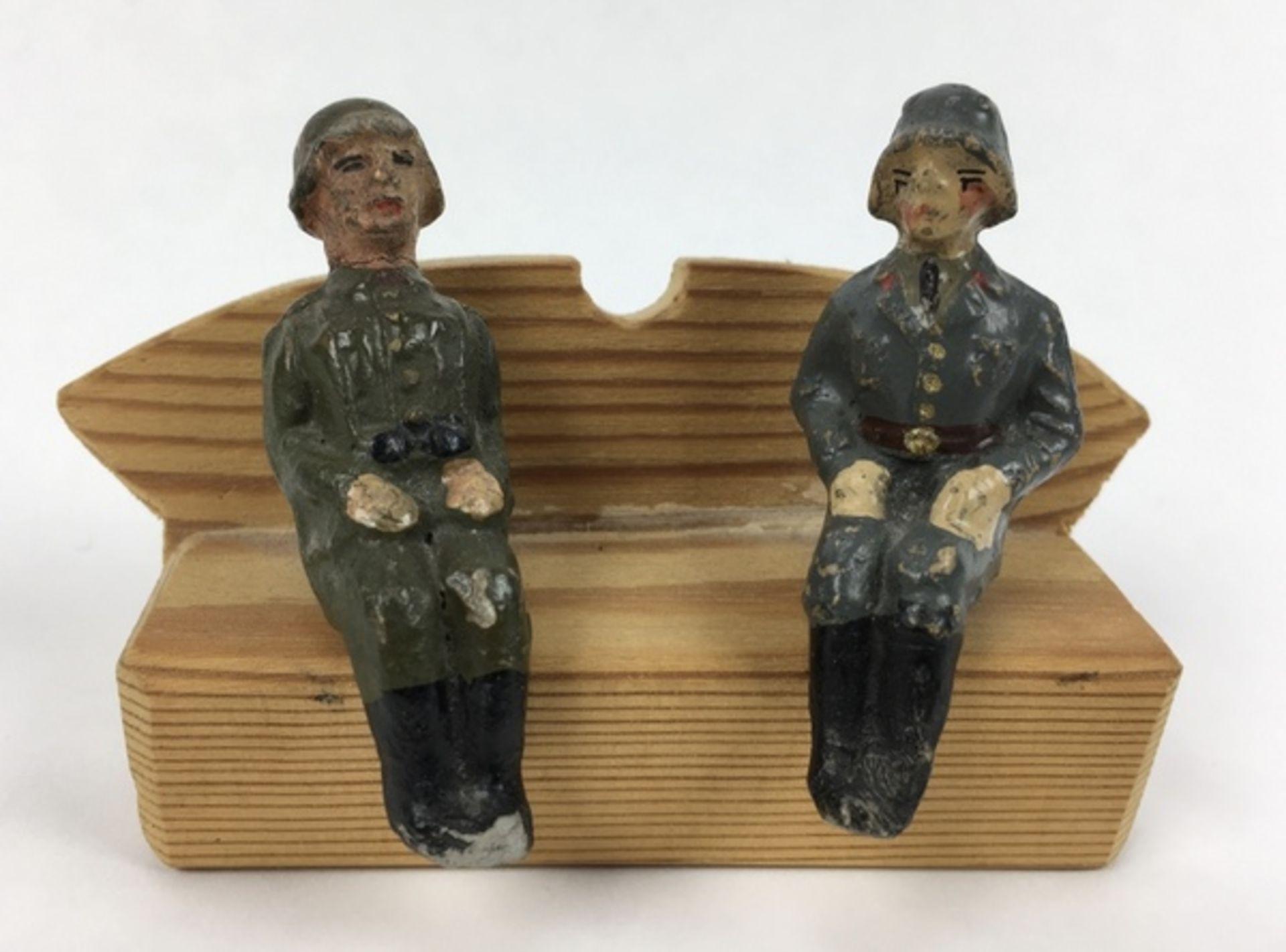 (Curiosa) Elastolin soldatenVijf Elastolin Wehrmacht-figuren, circa 1935. Conditie: In goede st - Image 7 of 7