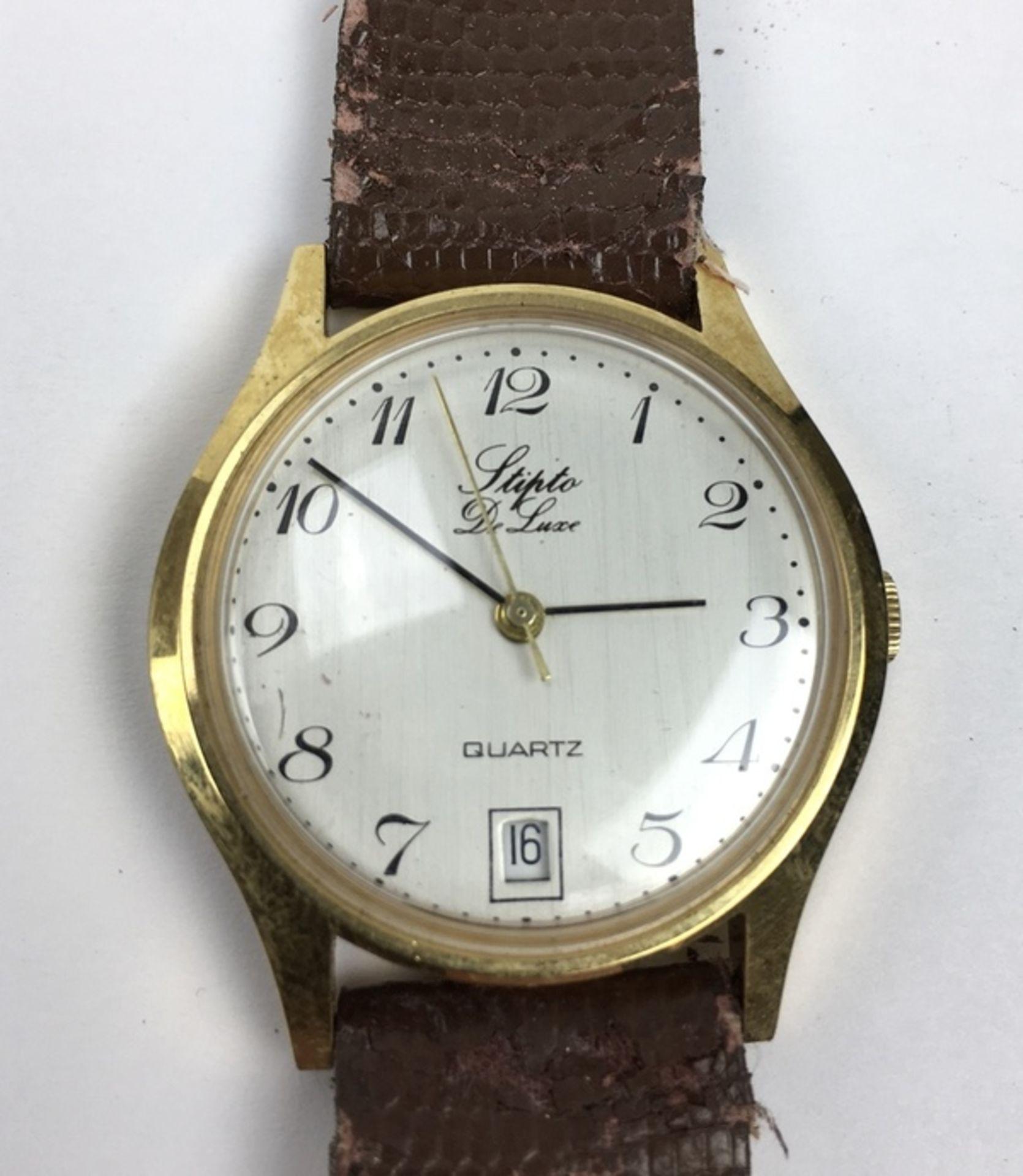(Sieraden) HorlogesDrie verschillende merken horloges. Conditie: Gebruikssporen, niet getest. A - Image 5 of 7