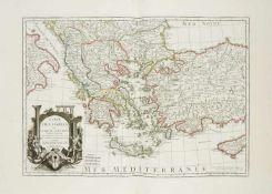 Sammelatlas. 18 Kupferkarten aus dem 'Atlas géographique' des Jean-Claude Dezauche nach Guillaume De