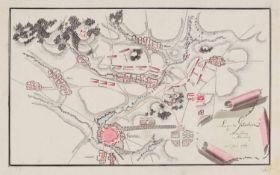 Siebenjähriger Krieg. Sammlung von 12 Schlachtenplänen von Kolin, Groß-Jägersdorf, Hochkirch,
