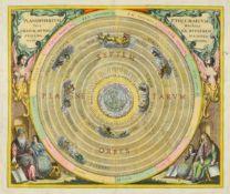 Himmelskarte. - Planisphærium Ptolemaicum, sive machina orbium mundi ex Hypothesi Ptolemaica in