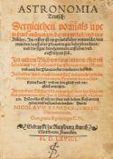 Rensberger, Nikolaus: Astronomia teutsch. Augsburg: Matth. Franck (Erben) 1569. 20,2 x 14.5 cm.