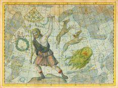Sternenkarten. - 15 Blatt kolorierte (und teils vergoldete) Kupferstiche von Johann Elert Bode aus