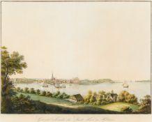 Schleswig-Holstein/Kiel. General Ansicht der Stadt Kiel in Holstein, Ansicht der Stadt von Osten mit