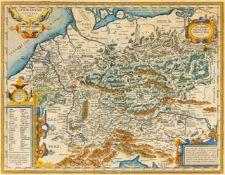 Deutschland. - Germaniae Veteris typus, historische Gesamtkarte von der Nordsee bis zum Golf von