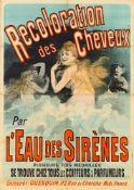 JULES CHÉRET 1836 - 1932RECOLORATION DES CHEVEUX – L'EAU DES SIRÈNES 1888Farblithographie, auf