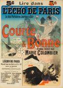 JULES CHÉRET 1836 - 1932LIRE DANS L'ÉCHO DE PARIS – COURTE & BONNE – ROMAN INÉDIT PAR MARIE