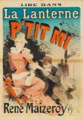 JULES CHÉRET 1836 - 1932 LIRE DANS LA LANTERNE P'TIT MI - PAR RENÉ MAIZEROY 1888 Farblithographie,