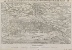 Rheinland-Pfalz/Trier. - Contrafehtung der uralten Statt Trier ... . Die Stadt Trier aus der