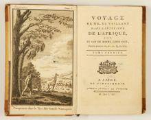 Levaillant, François: Voyage dans l'interieur de l'Afrique, par le Cap de Bonne-Espérance, dans