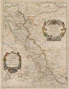 Deutschland. – Sammlung von 3 Blatt Karten verschiedener Regionen und Städte in unterschiedlichen
