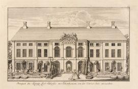 Berlin. - Schloss Monbijou / Schloss Schönhausen. Prospect des Königl. Lust Schlosses Monbijoux zu