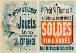JULES CHÉRET 1836 - 1932AU PETIT ST THOMAS PARIS – JOUETS LIVRES ARTICLES NOUVEAUX POUR ÉTRENNES