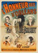 JULES CHÉRET 1836 - 1932L'HONNEUR DES D'ORLÉANS – PAR JULES BOULABERT 1886Farblithographie, auf