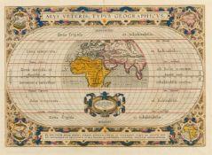 Weltkarte - Alte Welt. – Aevi Veteris Typus Geographicus, die Alte Welt mit Afrika, Europa und Asien
