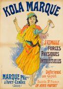 JULES CHÉRET 1836 - 1932KOLA MARQUE – STIMULE FORCES PHYSIQUES ET INTELLECTUELLES Ca.