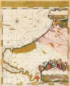 Normandie. - Carte Maritime des Environs de Dieppe depuis Pont Asselane jusques au Havre de Grace,