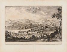 Italien. – 1 Karte, 2 Ansichten.1. Toskana / Kirchenstaat. Les Estats de l'Eglise, et de Toscane.