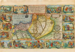 Heiliges Land. – Tabula Geographica, in qua Israelitarum, ab Aegypto ad Kenahanaeam, das Heilige