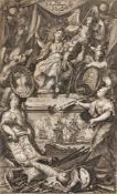 Türkenkriege. – Pax Triumphans, allegorische Darstellung des Krieges zwischen Venedig und den Türken