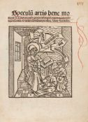 """Ars moriendi """"Cum de praesentis exilii miseria mortis transitus ..."""" (mit Titel: Speculum artis bene"""
