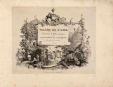 Ponsart, Jean-Nicolas: Vallée de l'Ahr, Prusse Rhénane. Dessinée d'après nature et lithograhiée.