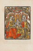 Bertholdus von Freiburg: Horologiu[m] deuotio[n]is. Köln: Johann Landen [um 1503]. 12,9 x 9 cm. 58