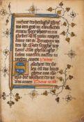 Getijdenboek. - Niederländisches Stundenbuch. Handschrift auf Pergament. Wohl nördliche Niederlande,