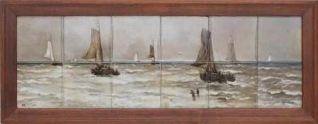 N.V. Haagsche Plateelfabriek Rozenburg, Den Haag (1883-1917)A tilepicture consisting of 12 tiles