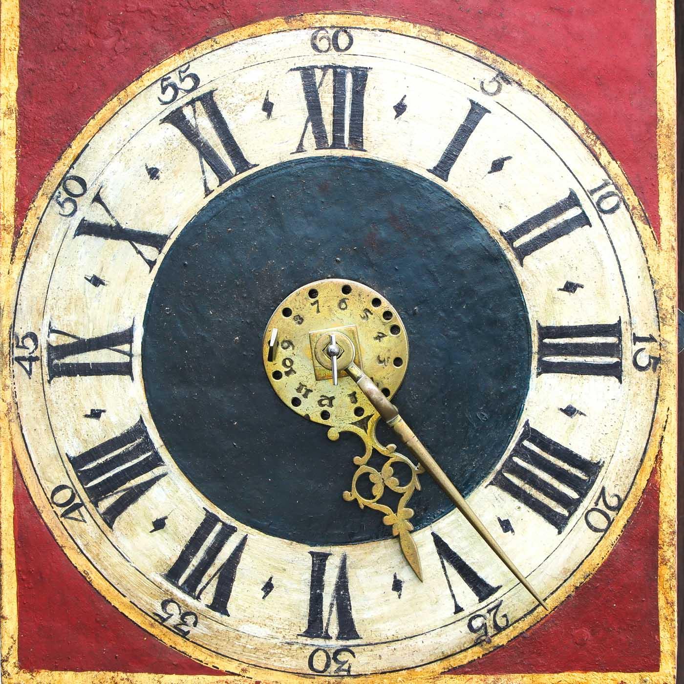 Lot 1030 - A Signed Ruempol Lauren Clock 1754