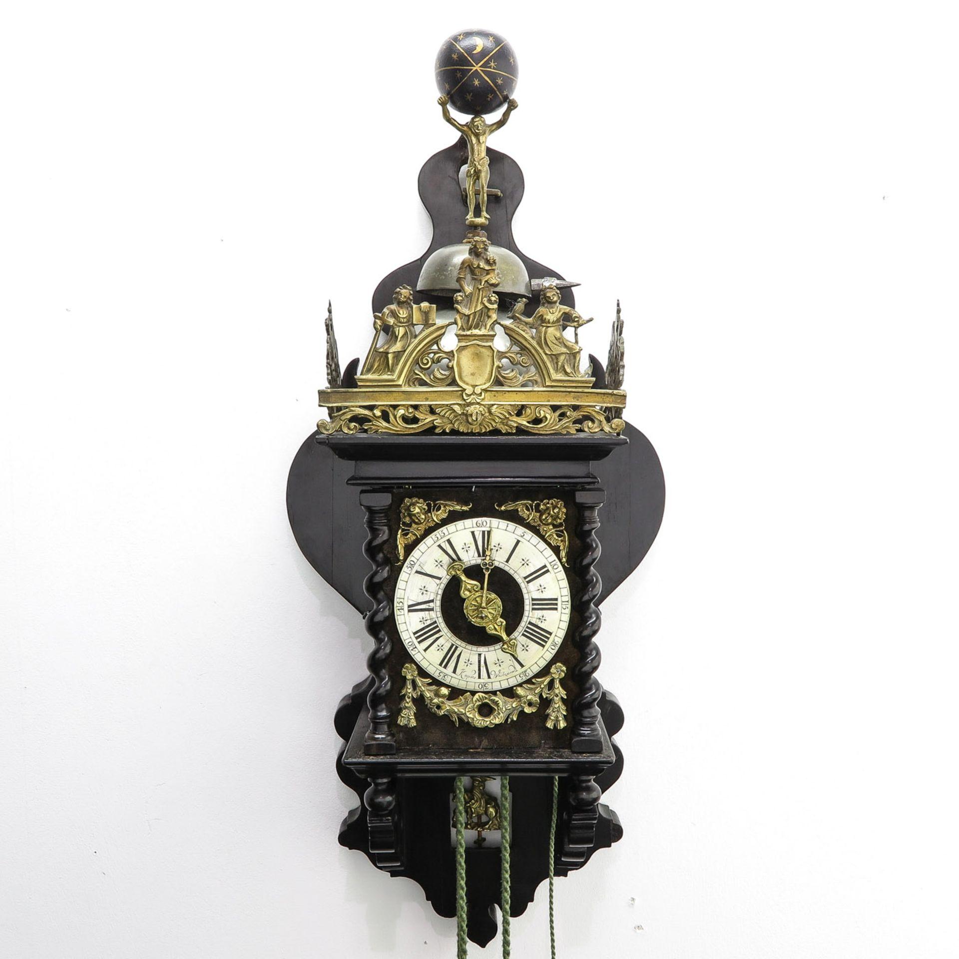 Los 1115 - A Zaanlander Clock Signed Copies Westnane