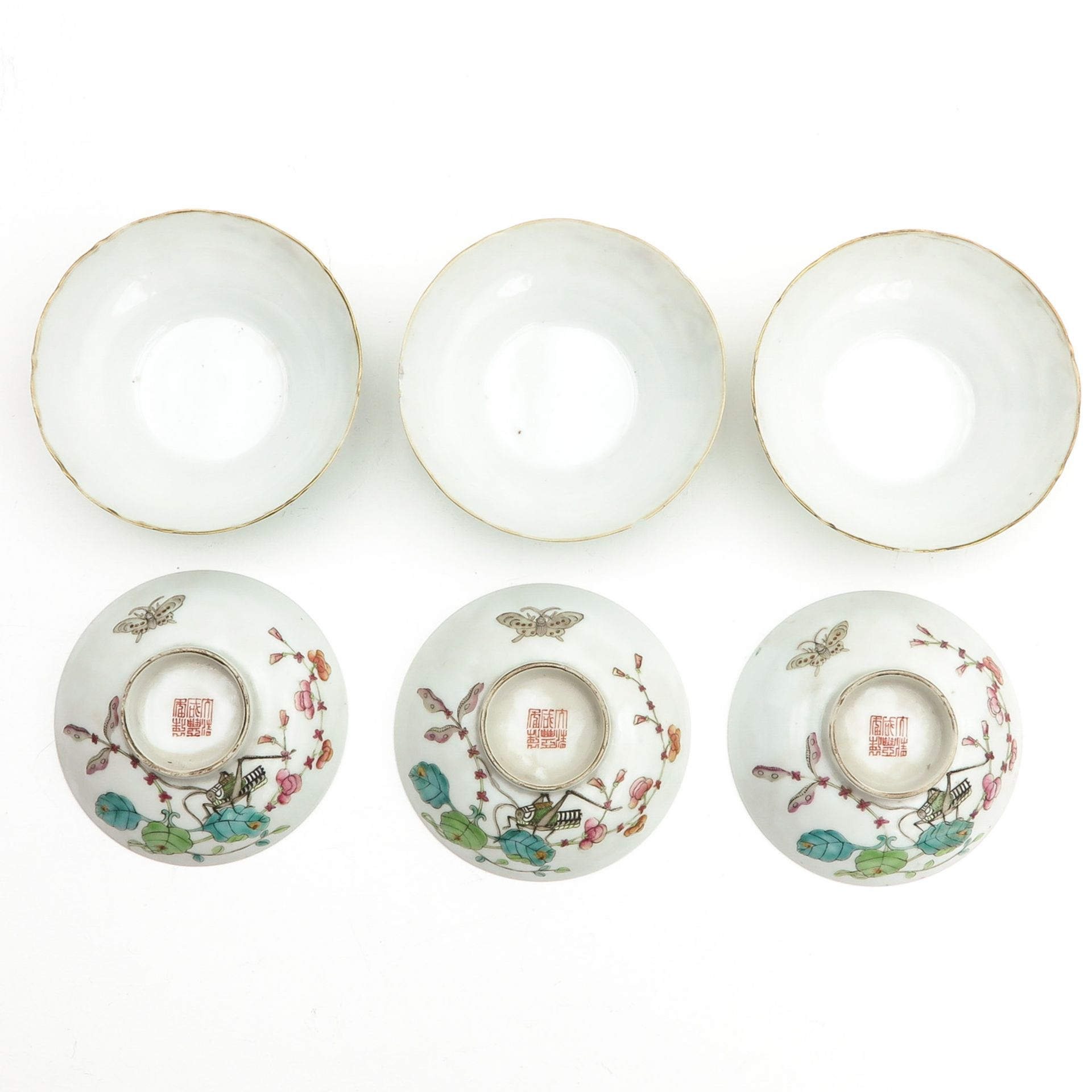 Los 7101 - A Collection of Three Covered Cups