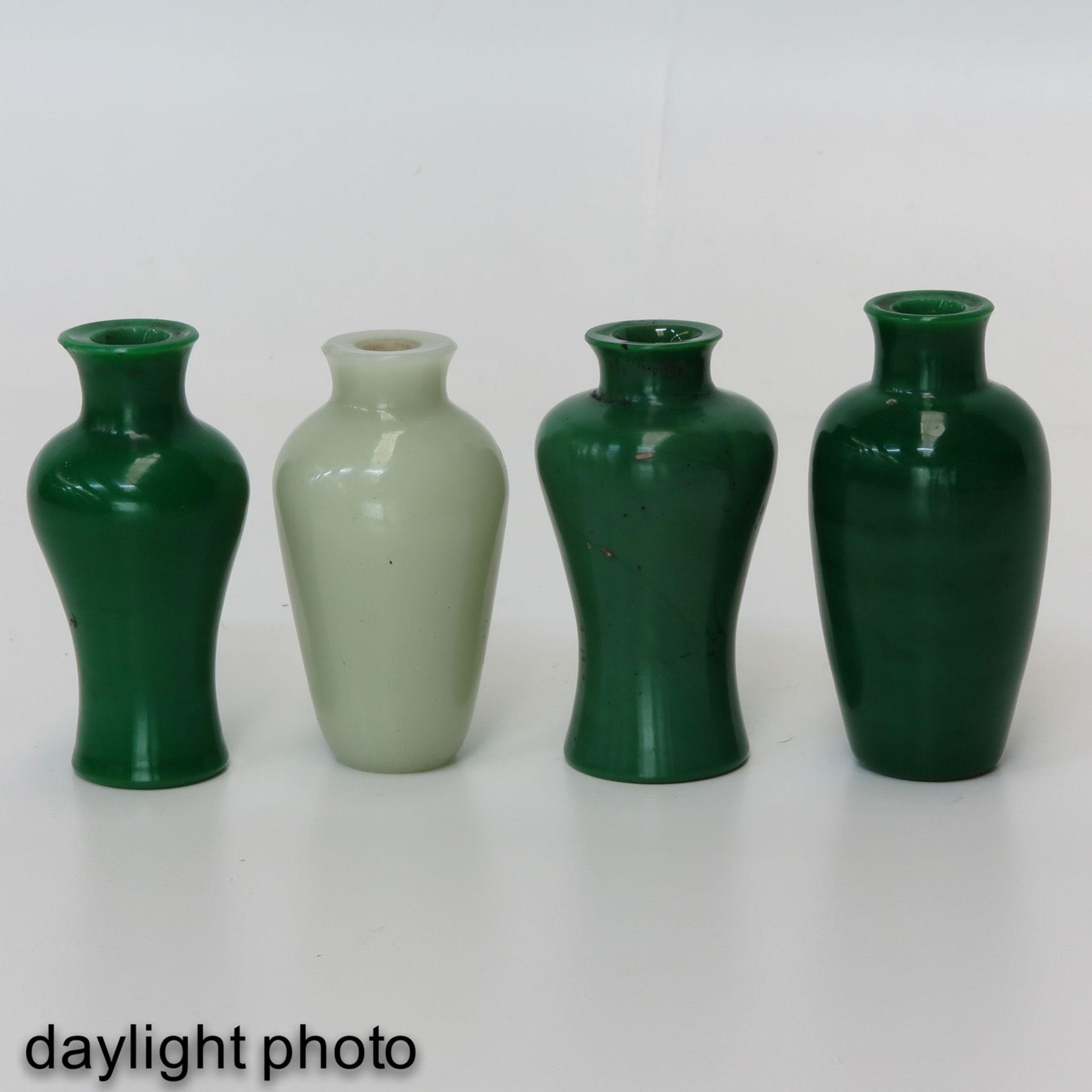 Los 7044 - A Collection of 4 Jade Vases