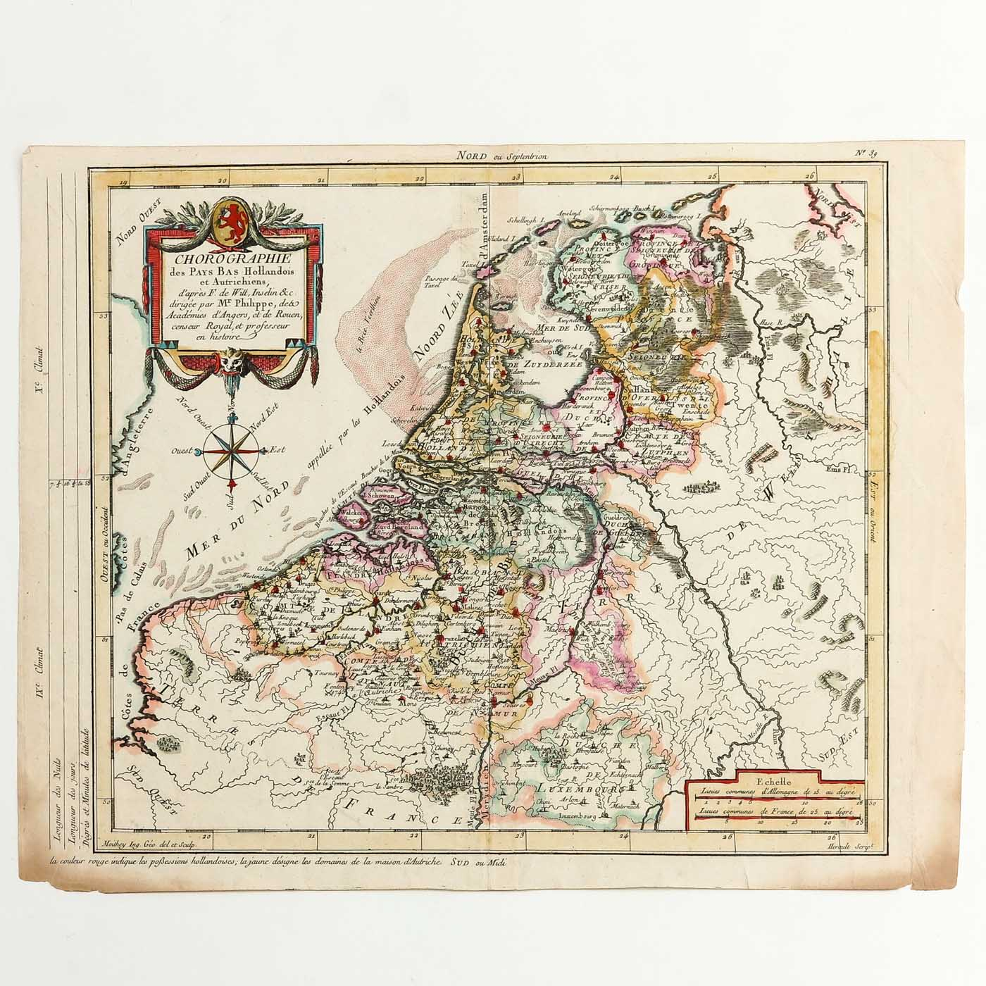 A Collection of Old Prints and Topographic Maps - Image 2 of 5