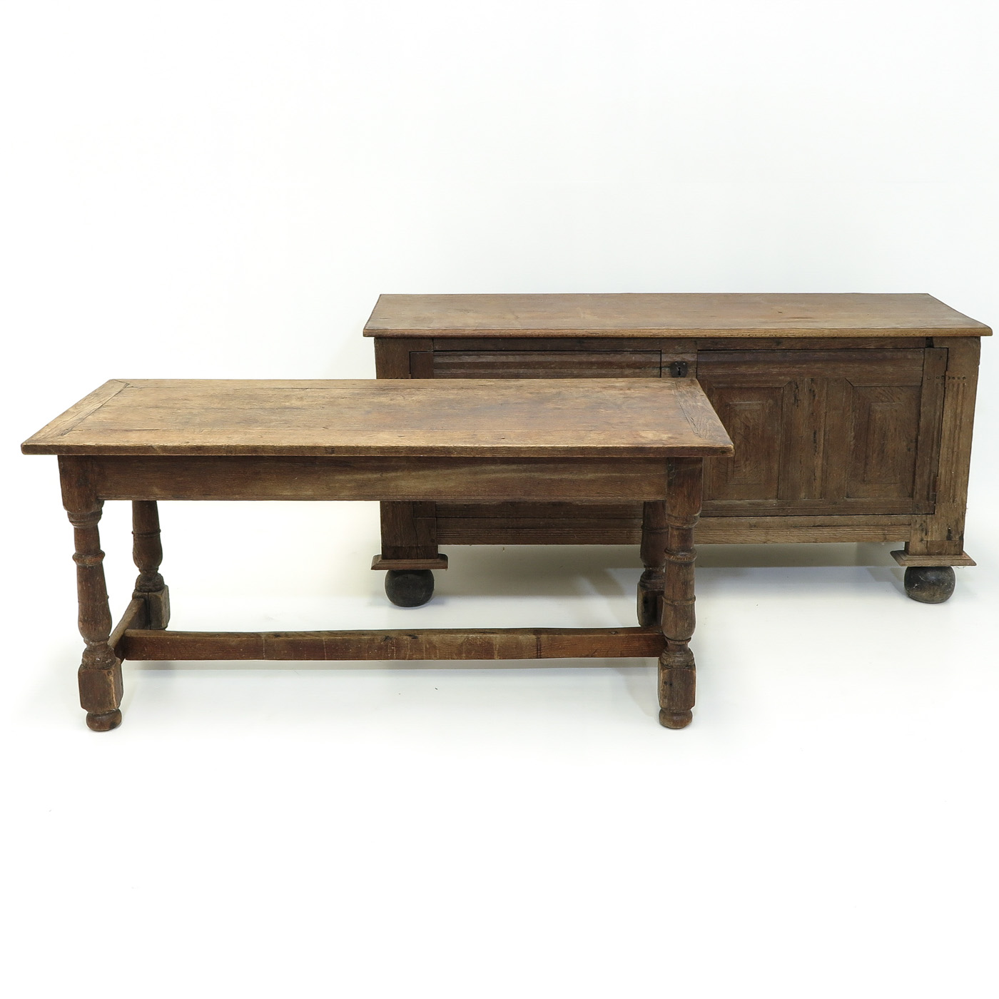 Lot 1018 - A Monastery Table and Oak Sideboard