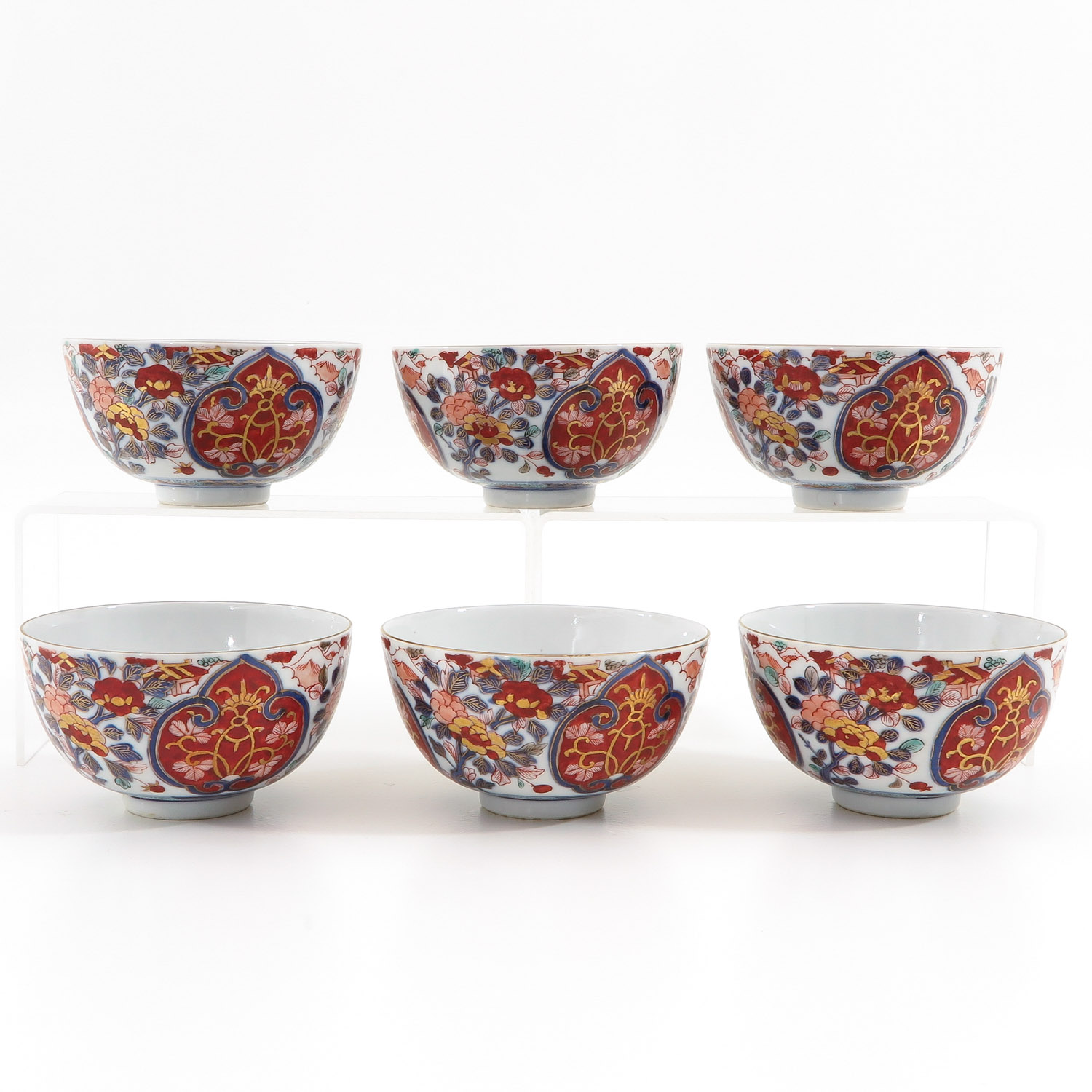 Lot 7057 - A Series of 6 Imari Bowls
