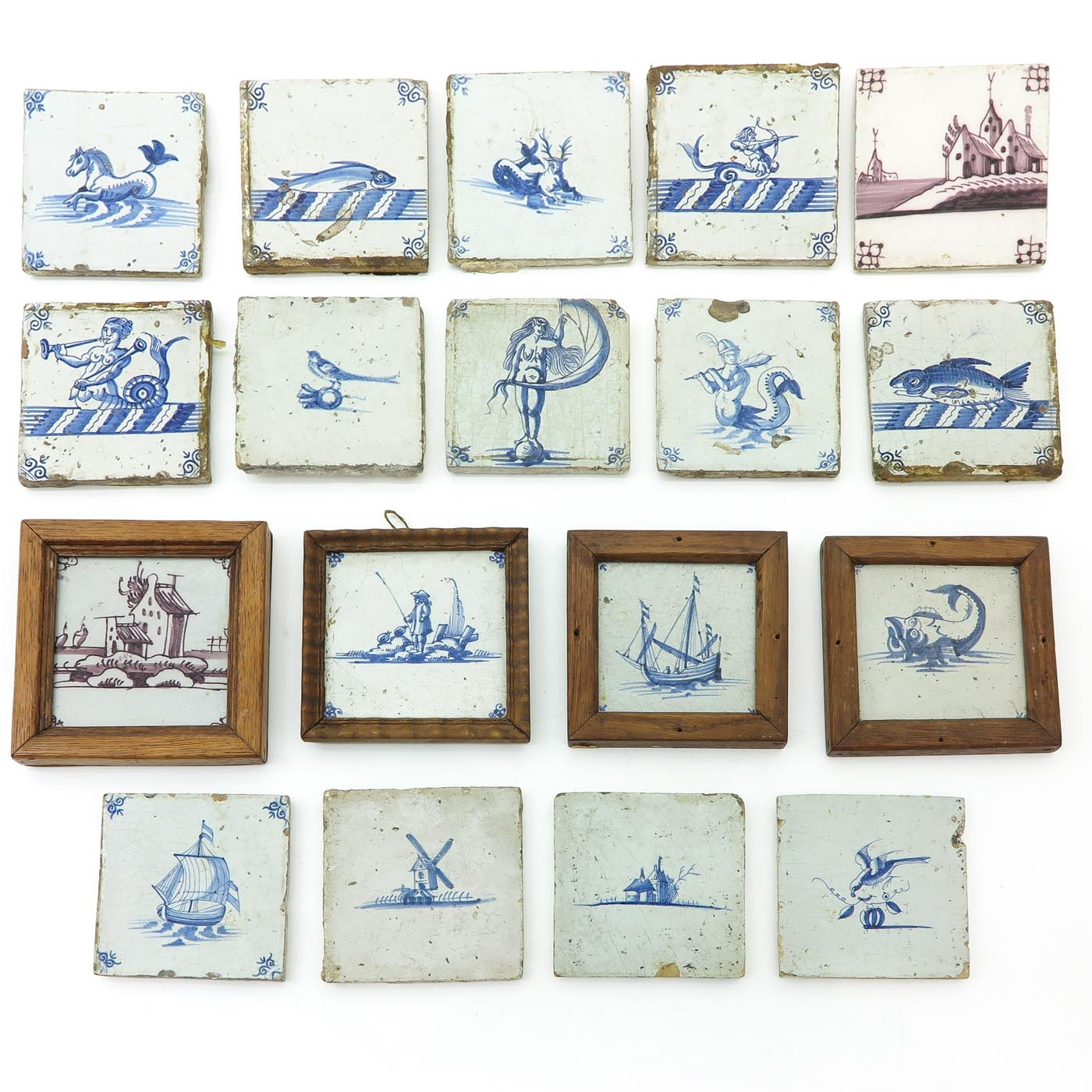 Lot 1036 - A Collection of 17th - 18th Century Tiles