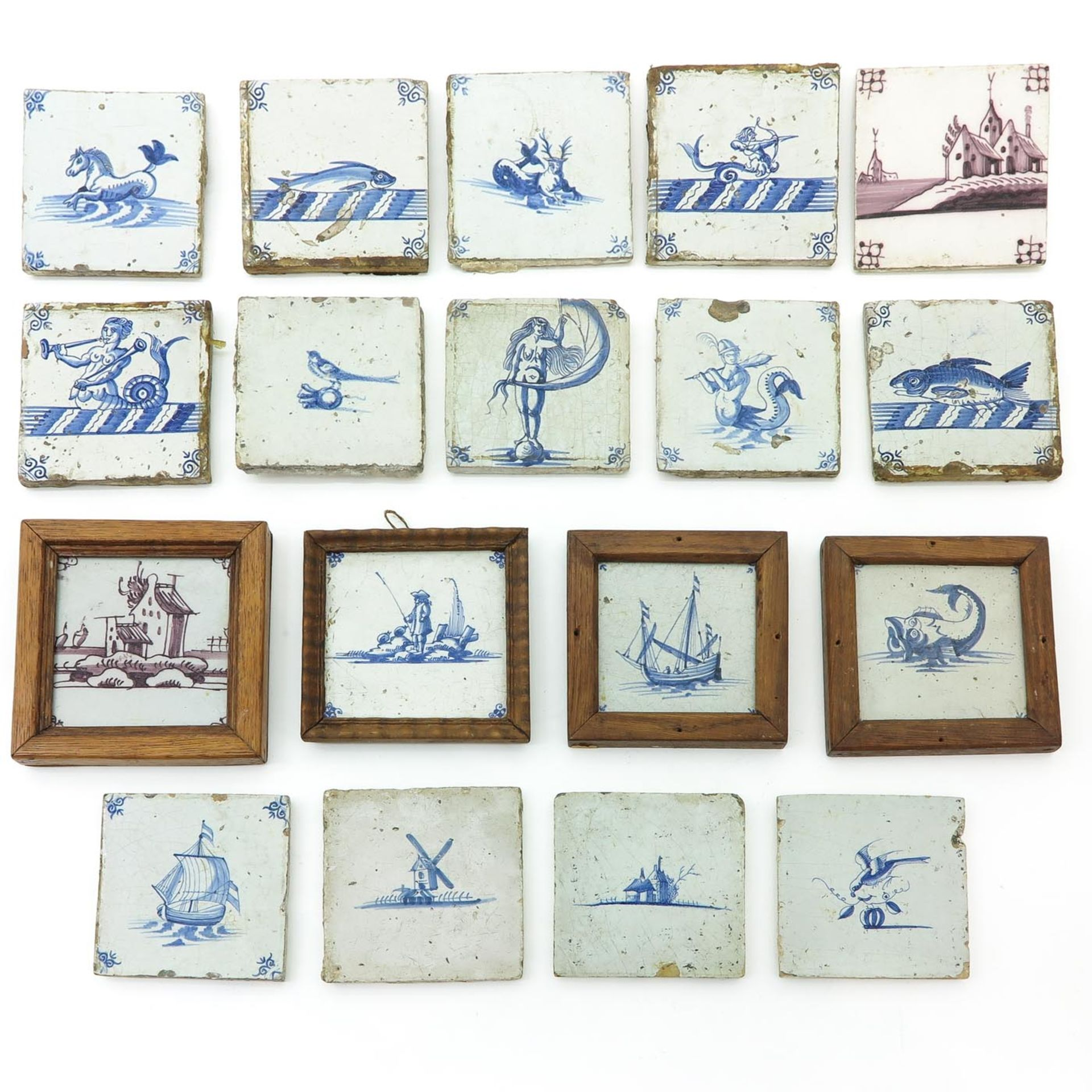 Los 1036 - A Collection of 17th - 18th Century Tiles