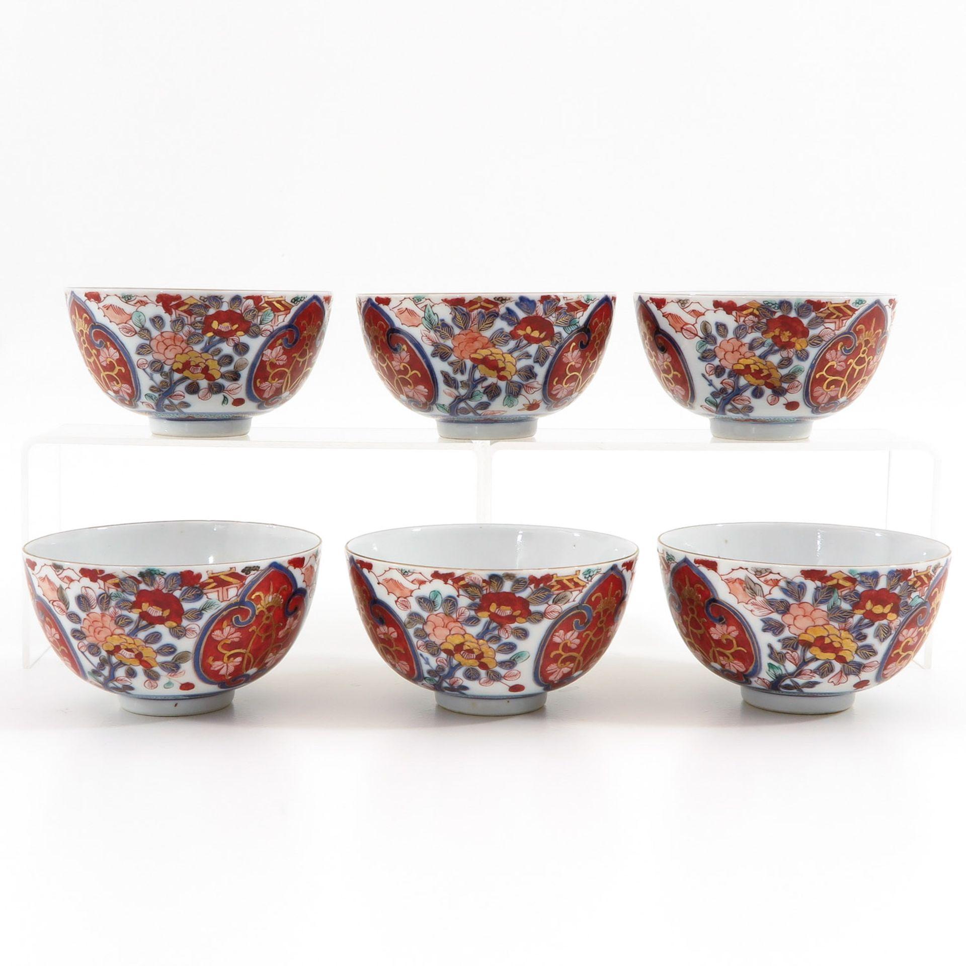 Los 7057 - A Series of 6 Imari Bowls